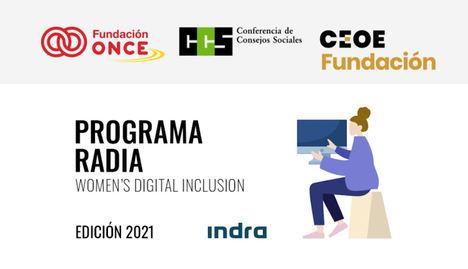 Abierta la convocatoria del Programa Radia, edición Indra 21/22, de formación tecnológica para mujeres con discapacidad