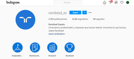 Randstad ayudará a los trabajadores a través de Instagram a aumentar las posibilidades de encontrar empleo en la nueva normalidad