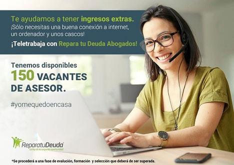 Repara tu Deuda, líderes en la Ley de la Segunda Oportunidad, oferta 150 puestos de trabajo a sus clientes