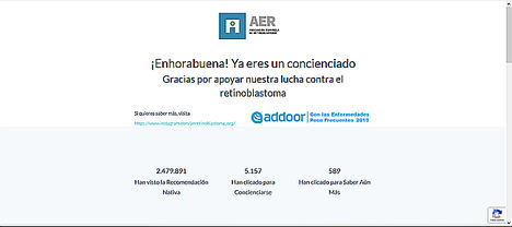 Addoor y AER lanzan una campaña de sensibilización sobre el Retinoblastoma