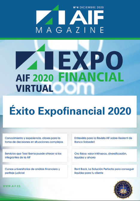 Ya está disponible el último número de AIF Magazine, editada por la Asociación Profesional Colegial de Asesores de Inversión, Financiación y Peritos Judiciales
