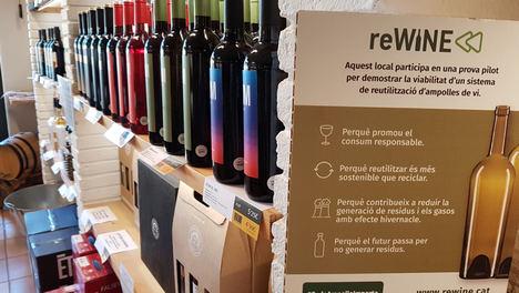 El sector vitivinícola catalán podría reducir un 28% su huella de carbono con la reutilización de botellas