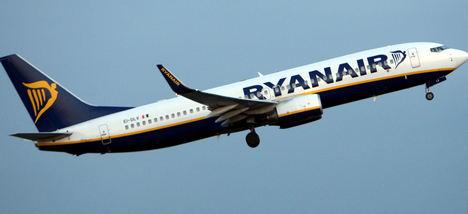 El índice de puntualidad de Ryanair alcanza el 84% en marzo