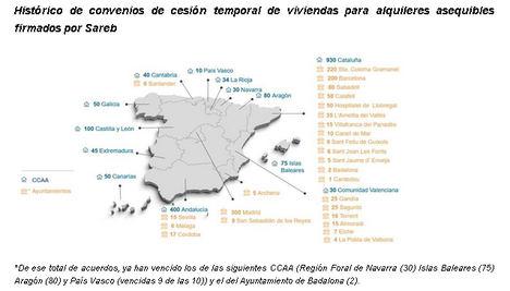 Sareb vende 75 viviendas a la Generalitat Valenciana por cinco millones de euros