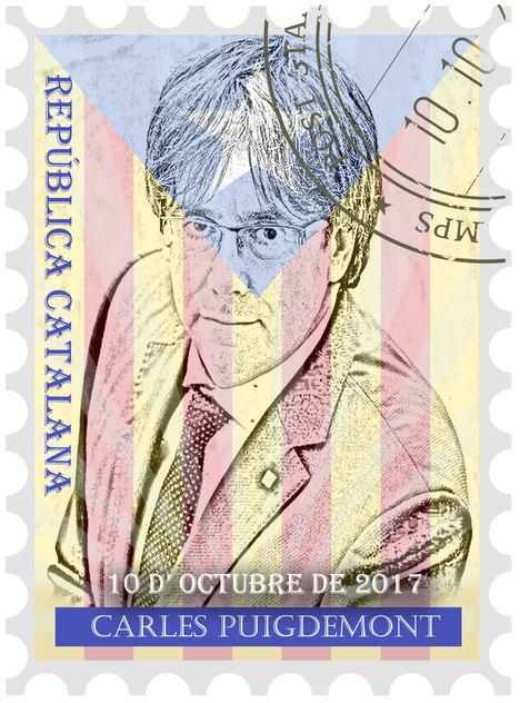 Se subasta el primer sello digital NFT conmemorativo de la proclamación de la repúplica catalana de 2017