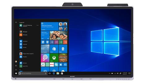 Sharp presenta la primera pantalla interactiva certificada por Microsoft para trabajo colaborativo en entornos Office 365