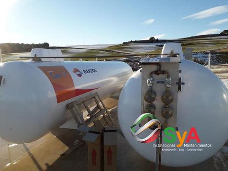 SYA instalaciones lleva a cabo la instalación de infraestructuras de gas propano para poblaciones