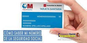 Dónde aparece el número de la Seguridad Social en la tarjeta sanitaria