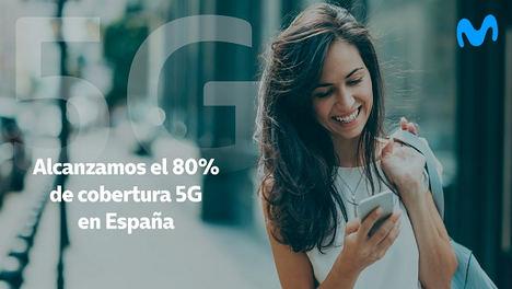 Telefónica alcanza el 80% de cobertura de población 5G en España durante el primer trimestre del año