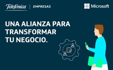 Telefónica Empresas y Microsoft unen fuerzas para hacer más asequible la digitalización a las pymes españolas