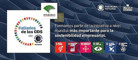 Unicaja Banco se suma a la campaña #aliadosdelosODS, impulsada por la Red Española del Pacto Mundial de Naciones Unidas