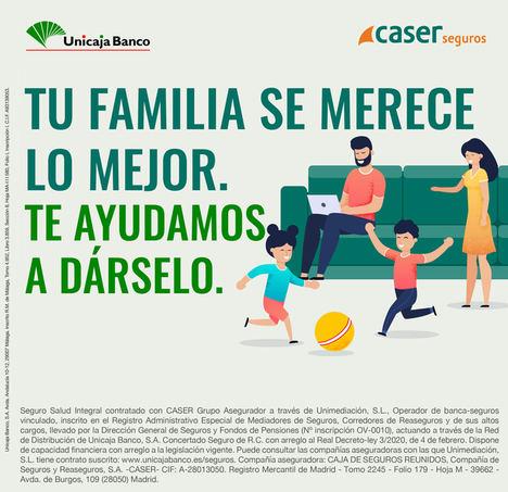 Unicaja Banco lanza una campaña de seguros de salud de Caser que ofrece la posibilidad de realizar de forma gratuita un test COVID-19