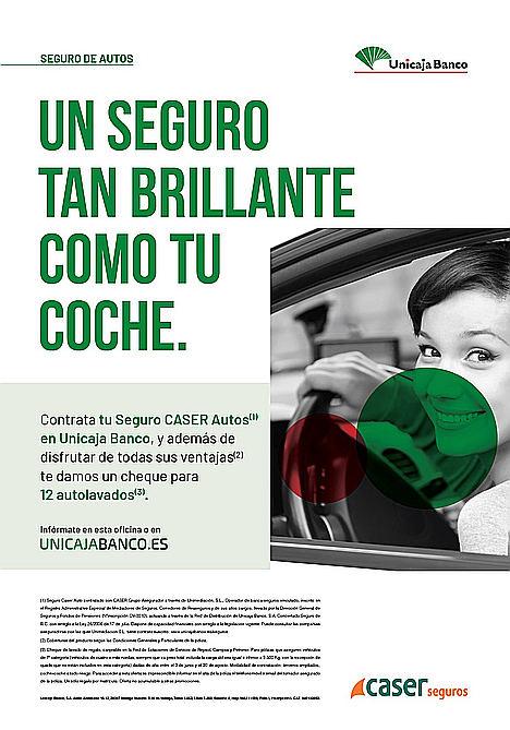 Unicaja Banco comercializa un seguro de automóvil que ofrece al cliente un coche similar al suyo si este es declarado siniestro total