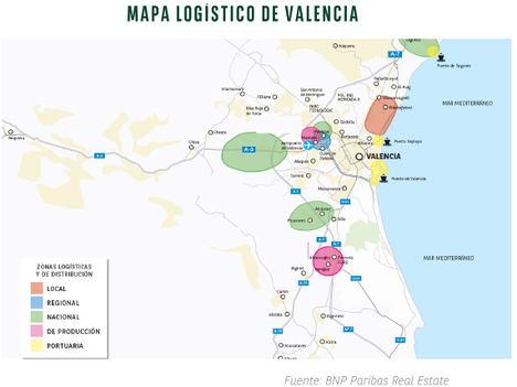El mercado logístico de Valencia se muestra muy dinámico en 2021, con un 95% más de contrataciones de espacios