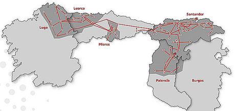 Viesgo Mapa Distribución.
