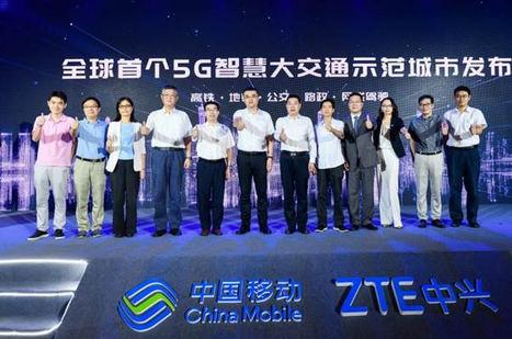 ZTE y China Mobile realizan la primera demo mundial de ciudad piloto 5G con red inteligente de transporte
