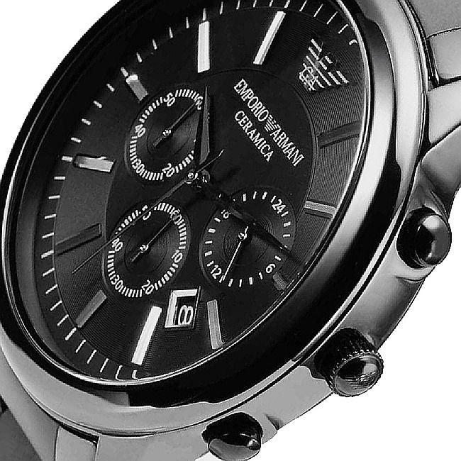 4eea0f66bc20 El reloj Emporio Armani AR1451 es un reloj cronógrafo de cerámica color  negro con fecha. Este reloj marca Emporio Armani tiene una caja de cerámica  con un ...